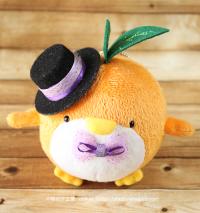 おめかしエコペンオレンジ(黒帽子紫レース)