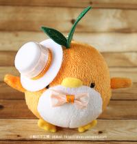おめかしエコペンオレンジ(白帽子オレンジリボン)