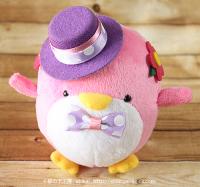 おめかしエコペンピンク(紫帽子ドットリボン)