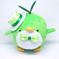 おめかしエコペン緑(白帽子緑ドットリボン)
