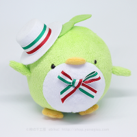 おめかしエコペン黄緑(白帽子緑白赤リボン)