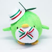 おめかしエコペン緑(白帽子緑白赤リボン2)