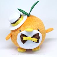おめかしエコペンオレンジ(白帽子茶黄リボン)