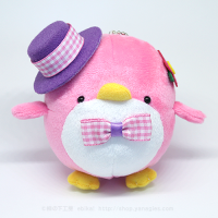 おめかしエコペンピンク(紫帽子ピンクチェックリボン)