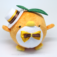 おめかしエコペンオレンジ(白帽子オレンジ茶リボン)