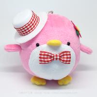 おめかしエコペンピンク(白帽子赤チェックリボン)