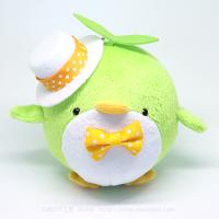 おめかしエコペン黄緑(白帽子黄色ドットリボン)