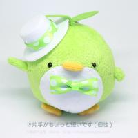 おめかしエコペン黄緑(白帽子ライムドットリボン)