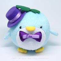 おめかしエコペン水色(紫帽子紫リボン)