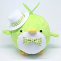 おめかしエコペン黄緑(白帽子ライムチェックリボン)