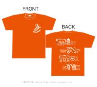 【オレンジ・XLサイズ】みやもりTシャツ