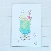 クリームソーダのポストカード