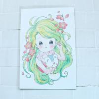 春の女神さまポストカード