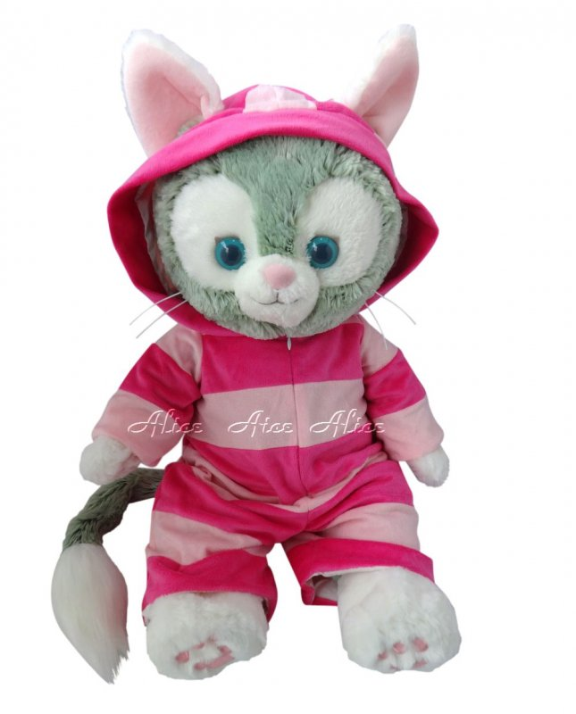 ジェラトーニ 服 コスチューム 不思議の国のアリス チシャ猫 ピンク 【Mサイズ】