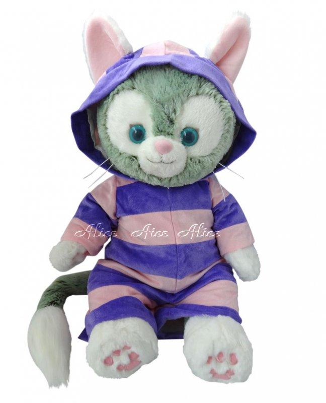 ジェラトーニ 服 コスチューム 不思議の国のアリス チシャ猫 紫 【Mサイズ】