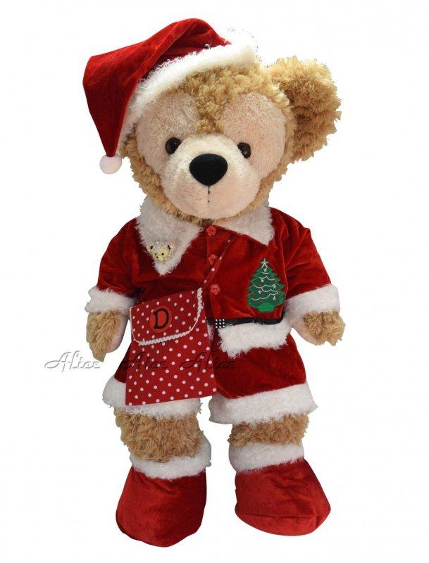 ダッフィー 服 コスチューム ポシェット&ブローチ付 サンタさん クリスマス Duffy 【Mサイズ】
