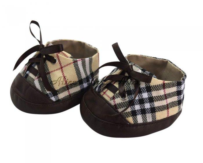 ダッフィーシェリーメイコスチューム スニーカー 靴 チェック柄ベージュ