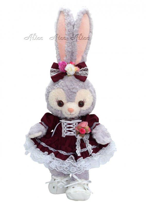 ステラ・ルー 服 コスチューム コサージュドレス ボルドー (ぬいぐるみ用)