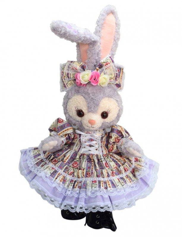 ステラ・ルー 服 コスチューム 花柄フリルドレス 紫(ぬいぐるみ用)