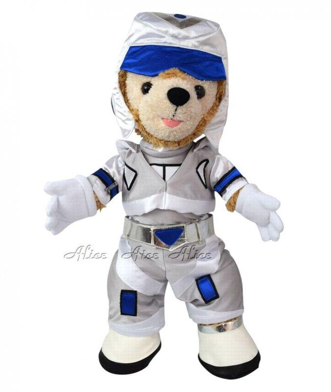 ダッフィー 服 コスチューム 宇宙飛行士 ロボ・アストロ ブルー(Sサイズ用)