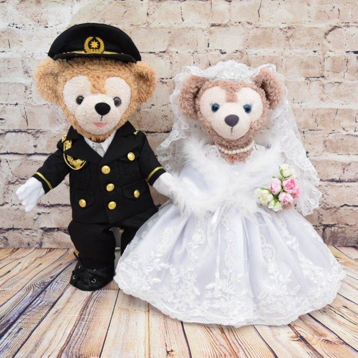 ダッフィー&シェリーメイ用,警察官礼服&ウエディングドレス,K21
