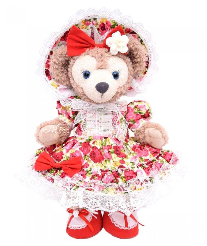 シェリーメイ用,ボンネット付薔薇ドレス