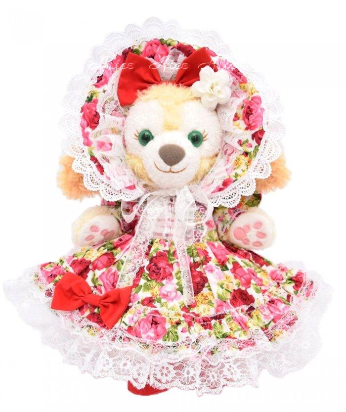 クッキーアン用,ボンネット付薔薇ドレス