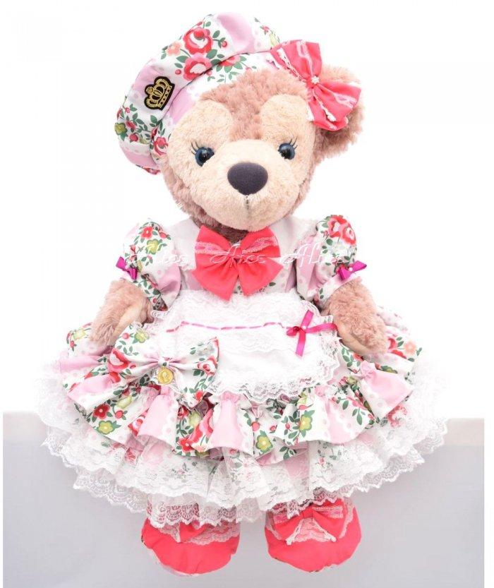 シェリーメイMサイズ用,盛り盛りドレス,薔薇
