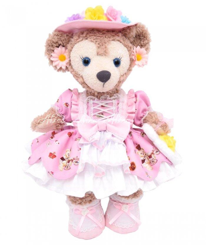 シェリーメイSサイズ用,くまちゃんドレス,ピンク
