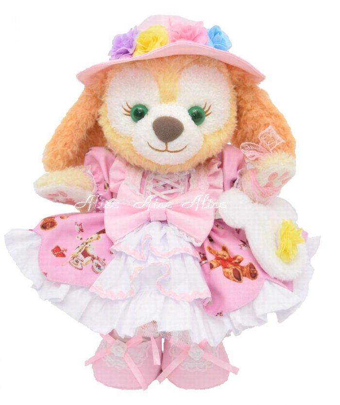 ステラルーSサイズ用,くまちゃんドレス,ピンク