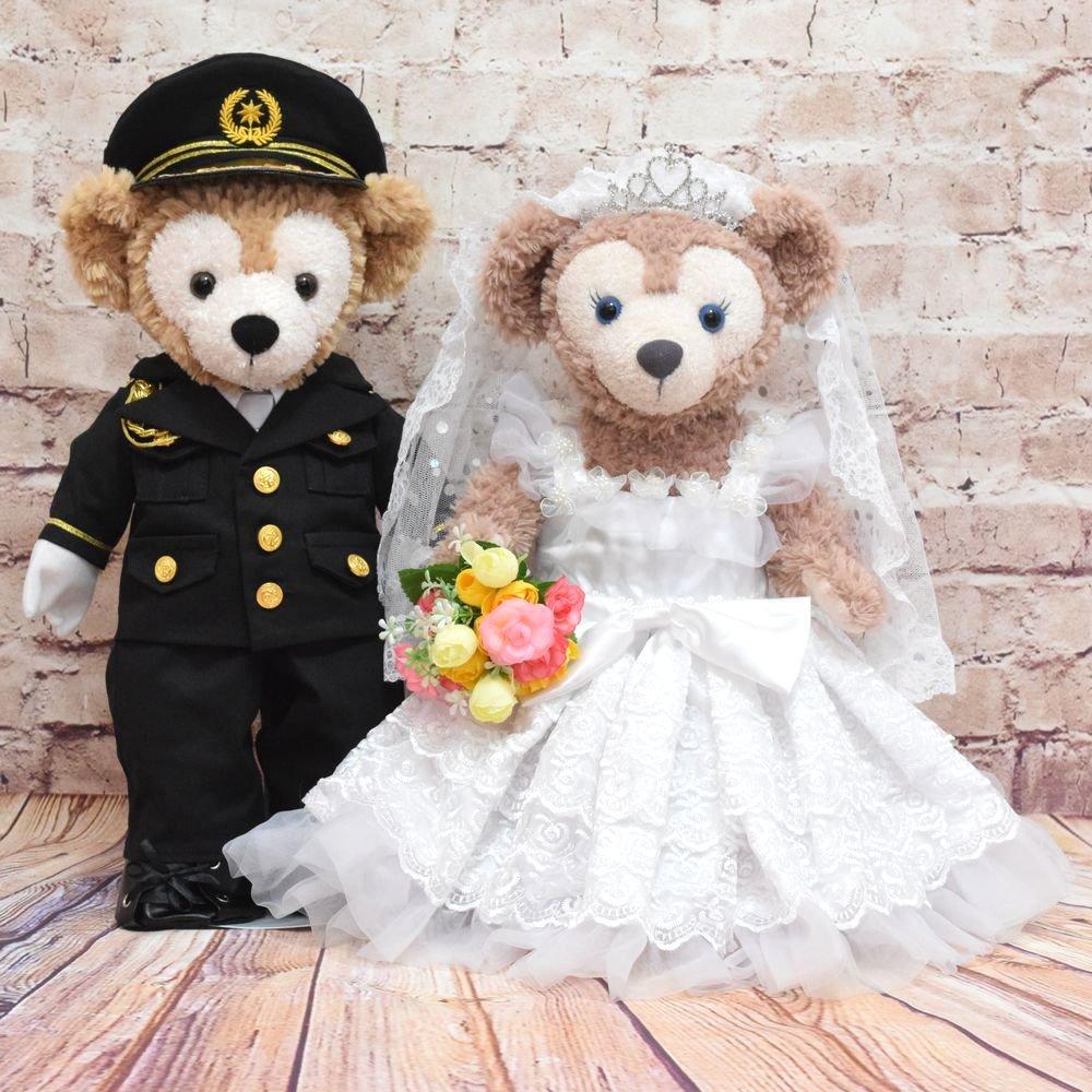 ダッフィー&シェリーメイ用,警察官礼服&ウエディングドレス,K22