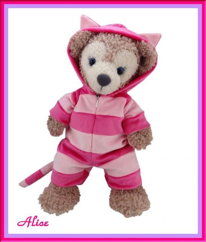 ダッフィー シェリーメイコスチューム 不思議の国のアリス チシャ猫 ピンク ShellieMay