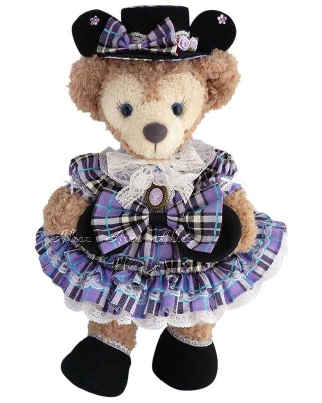 シェリーメイ 服 コスチューム パニエ&ドロワーズ付 豪華 プリンセスミニードレス チェック柄紫