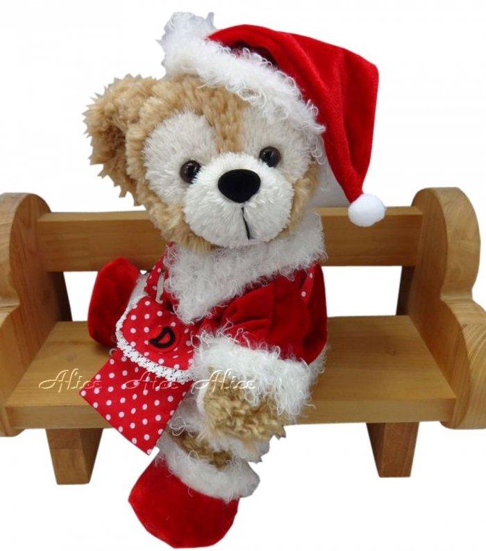 ダッフィー 服 コスチューム ポシェット付 サンタさん クリスマス Duffy 【ポーチ/送料無料】