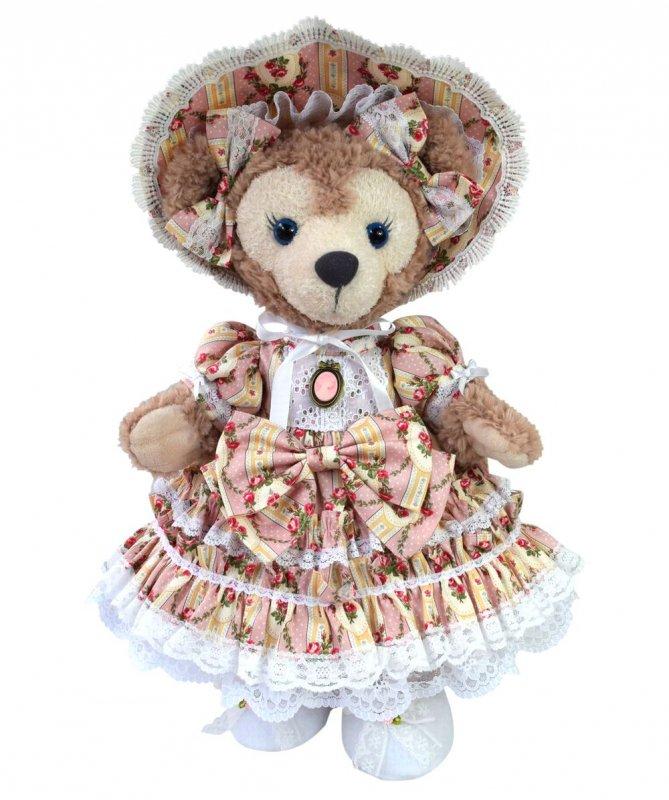 シェリーメイ 服 コスチューム パニエ&ドロワーズ付 豪華プリンセス ロングドレス バラ柄ピンク