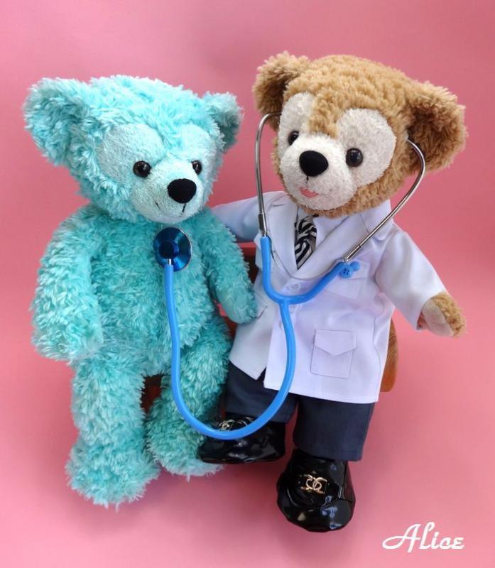 ダッフィー シェリーメイ 服 コスチューム 聴診器付 お医者さん ドクター