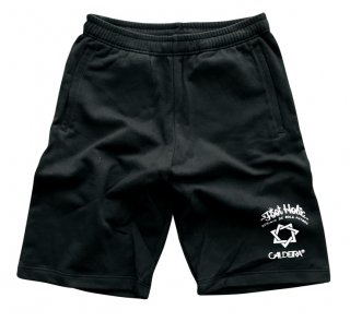 "No.9019 LIGHT SWEAT HALF PANTS ""FOOT HOLIC"" BLACK"