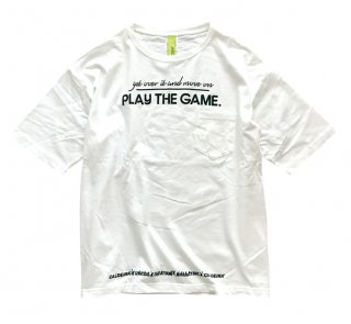 "<img class='new_mark_img1' src='//img.shop-pro.jp/img/new/icons50.gif' style='border:none;display:inline;margin:0px;padding:0px;width:auto;' />No.9020 WIDE SILHOUETTE POCKET TEE ""PLAY THE GAME"" WHITE"
