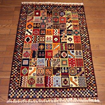 トルコ絨毯 NEW 125x82 ラグ マット ブラウン