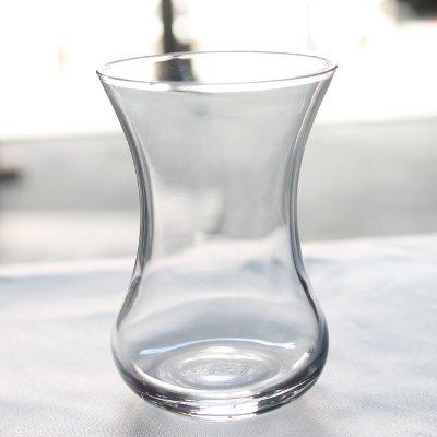 トルコのチャイグラス プレーンM  無地くびれ