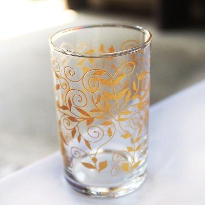 トルコのチャイグラス プレーンM ゴールドリーフ