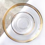チャイグラス用ソーサー クリア ゴールドライン