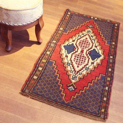 トルコ絨毯 1980年代コンヤ(Konya)産 98x52 ラグ マット