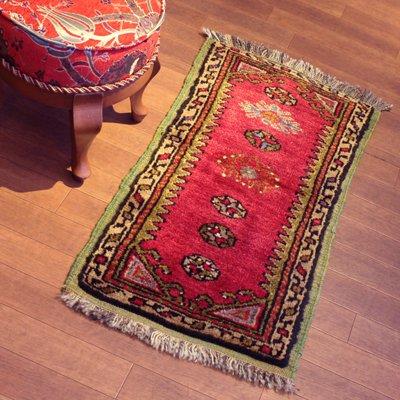 トルコ絨毯 1980年代コンヤ(Konya)産 85x45 ラグ マット