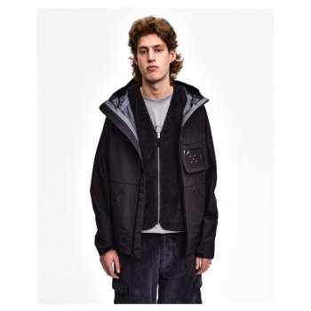 POP TRADING COMPANY ORACLE JACKET IN ANTHRACITE