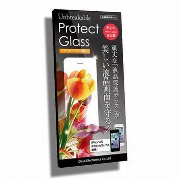 日本製オールケミカル処理プロテクトガラスiphone5 iphone5c iphone5s 強化ガラス 耐衝撃