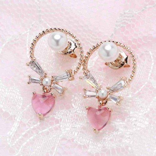 バリューピアスポストVol.3/Ribbon Pink Heart