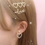 <img class='new_mark_img1' src='https://img.shop-pro.jp/img/new/icons55.gif' style='border:none;display:inline;margin:0px;padding:0px;width:auto;' />ハートヘアピンセット/3ハート&LOVE