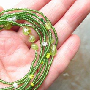 糸 ペリドット 緑&黄色 ネックレス