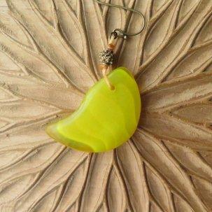 icco ウェディングビーズ 黄 + 真鍮 ピアス&イヤリング